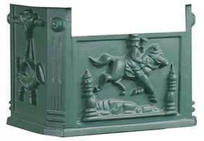 AMCO Victorian Pedestal Mailbox Box Green