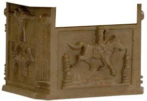 Victorian Pedestal Mailbox Box Antique Moccasin