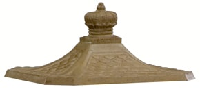 Victorian Pedestal Mailbox Roof Antique Moccasin