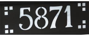 America's Finest Horizontal Mailbox Pasadena Numbers