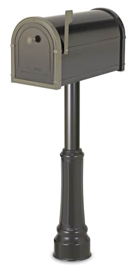 Bellevue Mailbox with Basic Post