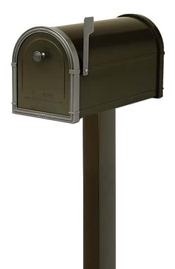 Bellevue Mailbox with Standard Post