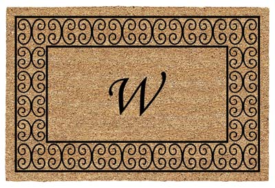 Charleston Monogram Door Mat