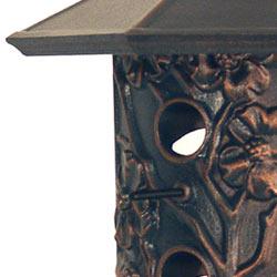 Whitehall Dogwood Bird Feeder Verdigris