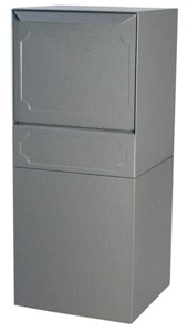 dVault Curbside Post Mount Vault Gray