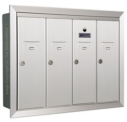 Florence 12504H Vertical Mailboxes Anodized Aluminum