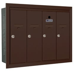 Florence 12504H Vertical Mailboxes Dark Bronze