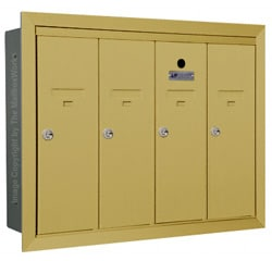Florence 12504H Vertical Mailboxes Gold Speck