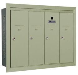 Florence 12504H Vertical Mailboxes Postal Grey