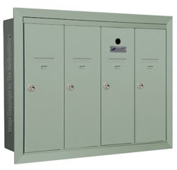 Florence 12504H Vertical Mailboxes Silver Speck