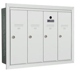 Florence 12504H Vertical Mailboxes White
