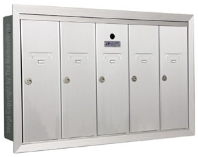 Florence 12505H Vertical Mailboxes Anodized Aluminum