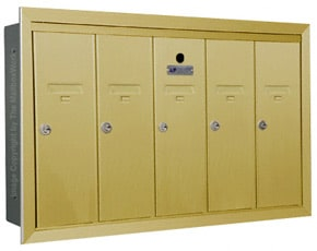Florence 12505H Vertical Mailboxes Gold Speck