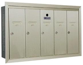 Florence 12505H Vertical Mailboxes Postal Grey