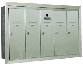 Florence 12505H Vertical Mailboxes Silver Speck
