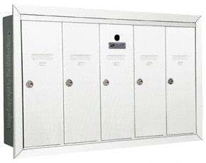 Florence 12505H Vertical Mailboxes White
