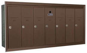 Florence 12507H Vertical Mailboxes Antique Bronze