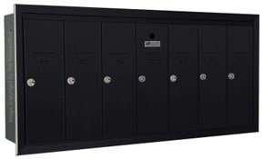 Florence 12507H Vertical Mailboxes Black