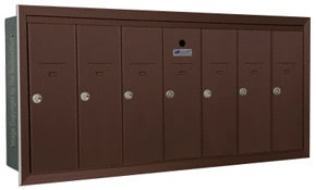 Florence 12507H Vertical Mailboxes Dark Bronze