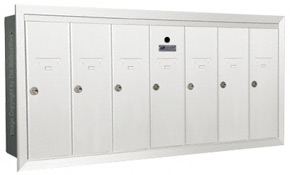 Florence 12507H Vertical Mailboxes White