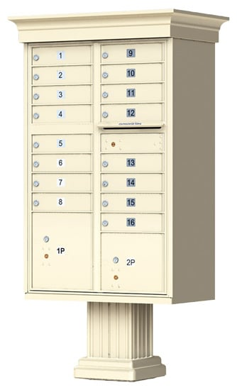 16 Door Vogue Classic CBU Mailboxes