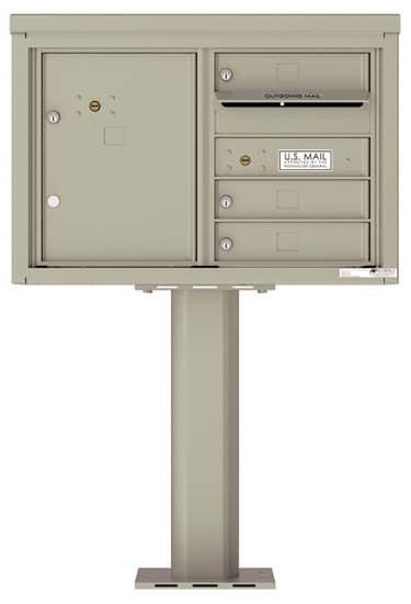 4C05D03-P Commercial 4C Pedestal Mailboxes