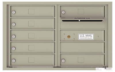 4C05D07 4C Horizontal Commercial Mailboxes