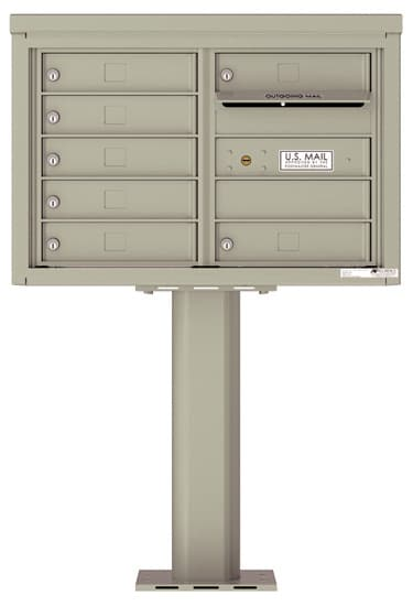 4C05D07-P Commercial 4C Pedestal Mailboxes