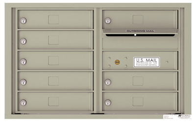 4C05D08 4C Horizontal Commercial Mailboxes