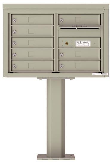 4C05D08-P Commercial 4C Pedestal Mailboxes