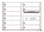 Florence 4C Mailboxes 4C06D-10 White