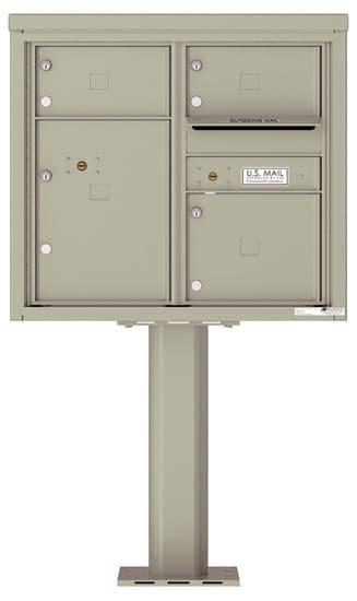4C07D03-P Commercial 4C Pedestal Mailboxes