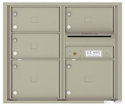 4C07D05 4C Horizontal Commercial Mailboxes