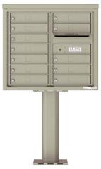 Florence 4C Pedestal 4C07D-12-P Postal Grey
