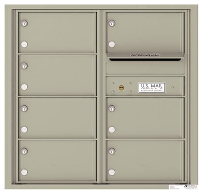 4C08D07 4C Horizontal Commercial Mailboxes