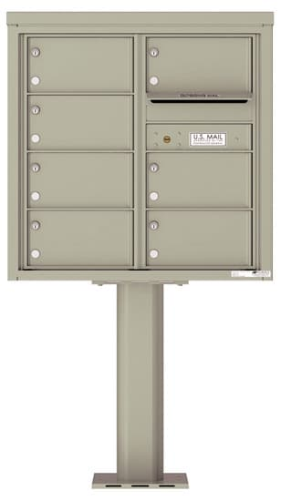 4C08D07-P Commercial 4C Pedestal Mailboxes