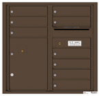 Florence 4C Mailboxes 4C08D-09 Antique Bronze