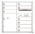 Florence 4C Mailboxes 4C08D-09 White