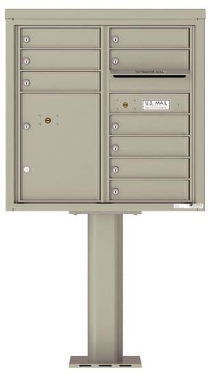 4C08D09-P Commercial 4C Pedestal Mailboxes