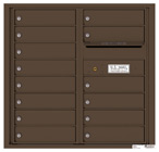 Florence 4C Mailboxes 4C08D-14 Antique Bronze