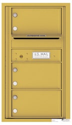 Florence 4C Mailboxes 4C08S-03 Gold Speck