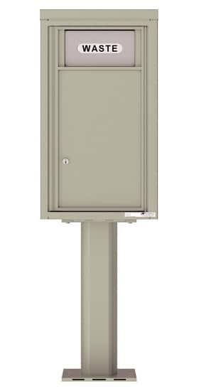 4C08SBIN 4C Pedestal Trash Recycling Bin