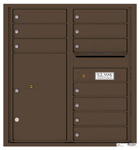 Florence 4C Mailboxes 4C09D-10 Antique Bronze