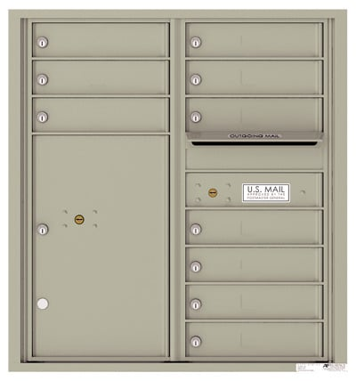 4C09D10 4C Horizontal Commercial Mailboxes