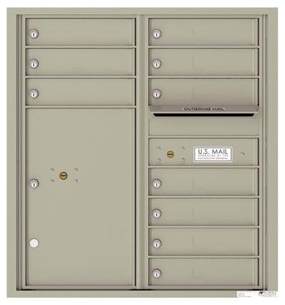 4C09D10 4C Horizontal Commercial Mailboxes