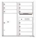 Florence 4C Mailboxes 4C09D-10 White