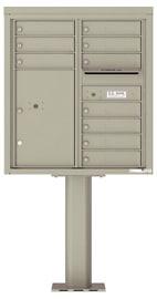 Florence 4C Pedestal 4C09D-10-P Postal Grey