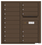 Florence 4C Mailboxes 4C09D-15 Antique Bronze