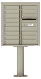 Florence 4C Pedestal 4C09D-15-P Postal Grey