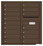 Florence 4C Mailboxes 4C09D-16 Antique Bronze